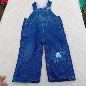 4/$20🎀Fleece lined denim overalls size 12 months